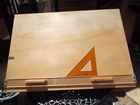 Wooden Studio drawing board with parallel motion 3ft x 2ft 2ins. Exc.Cond.
