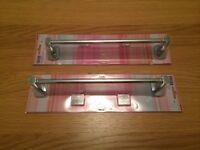 2 towel rails in chrome
