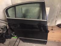 Vw Passat b6 black o/s rear door complete black driver 2005-2010 saloon