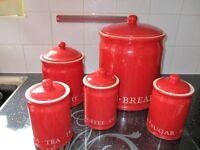 Red Kitchen containers