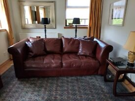 Collins & Hayes Leather 2 and 3 Seater Sofas