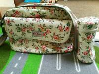 Genuine cath kidston changing bag, changing mat and bottle carrier