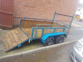 8× twin axle trailer