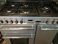 RANGEMASTER 90cm WIDE DUAL FUEL GAS COOKING RANGE FREE DELIVERY AND WARRANTY