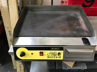 Electric flat grill commercial catering equipment restaurant takeaway cafe shop griddle