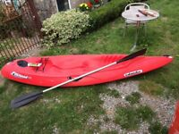 Islander paradise1 sit on top kayak and paddle, used condition, new parts fitted.