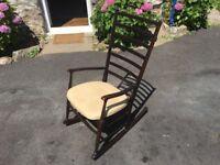 60's danish ladderback rocking chair