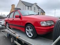 1989 Ford Sierra XR4X4 mot .04.22 price £ 5999 may take px/exch trade price only