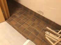 £240.00 for 17 m2 m2 Ruabon Heather Brown 150 x 150 floor wall tile NEW £45 m2 *WILL SPLIT*