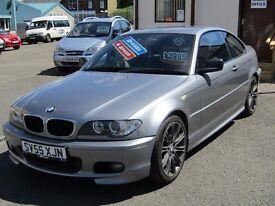 05/55 BMW 320CD 2.0 Diesel Coupe, 2dr, Metallic Grey. **12 Months MOT, Service History, 6 Speed**