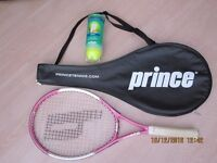 Ladies, Girls, Women's Prince Sharapova 26 Tennis Racket in Pink.