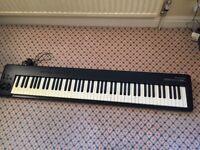 M-Audio ProKeys 88sx Keyboard and MIDI Controller plus Proel stand