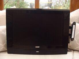 "DGM 24"" T.V. plus built in DVD player, Model No. OM10027 plus Wall Bracket"