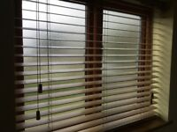 Hardwood Venetian blinds, 3 different sizes with fixings