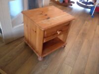 Small solid pine chest of drawers for restoration