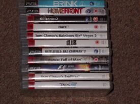 PLAYSTATON 3 GAMES £10 THE LOT