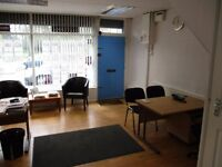 Shop Front office space for rental, two good sized offices, conservatory, kitchen and toilet