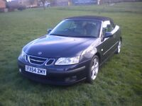 SAAB 9-3 Convertible Vector Turbo 54 Regd New MOT Leather Cruise Electric Roof etc