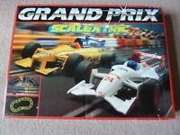 SCALEXTRIC GRAND PRIX RACING TRACK +CARS WITH EXTRA TRACKS- VINTAGE