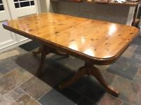 Solid pine Ducal extending dining table