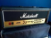 Marshall JVM 205H 50W head and Marshall 1936 2x12 Cab with covers and accessories