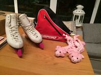 Ladies Risport Ice skates size 7 with carry bag and blade covers