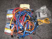 Bundle of motherboard power and data cables.