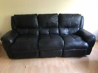 Black recliner sofas for quick sale.