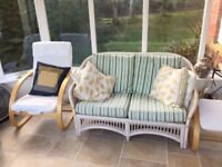 conservatory 2 seater and 2 chairs