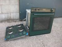 CALOR GAS COOKER OVEN AND HOB, WORKING, TAKEN FROM CANAL BOAT