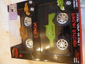2 x monster masher cars - BNIB