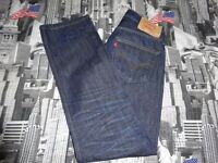 LEVIS 501 BUTTON FLY STRAIGHT LEG JEANS W34 L34 WORN ONCE