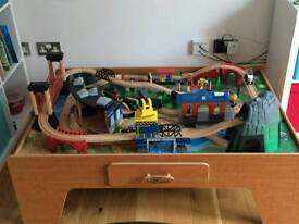 Universe of Imagination Rock Mountain wooden train table