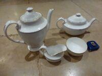 Spode 'Opera' tea pot, coffee pot, sugar bowl and milk jug