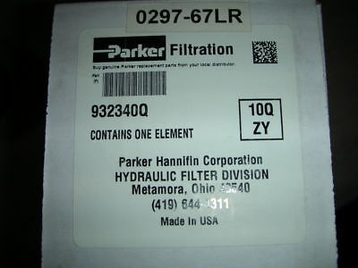 Genuine Parker Hydraulic Filter Element 932340q 12 Micron P564936 H9075 Nos