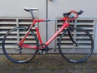 Mens Claud Butler Road Racing Bike Bicycle 59 cm Carbon Fibre Fork Upgraded Shimano Cranks