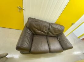 Leather, 2 Seater. Dark Brown (Free delivery)