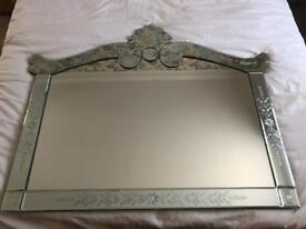 Beautiful Mirror wall mantle dressing table hallway mint condition pretty shabby chic stunning