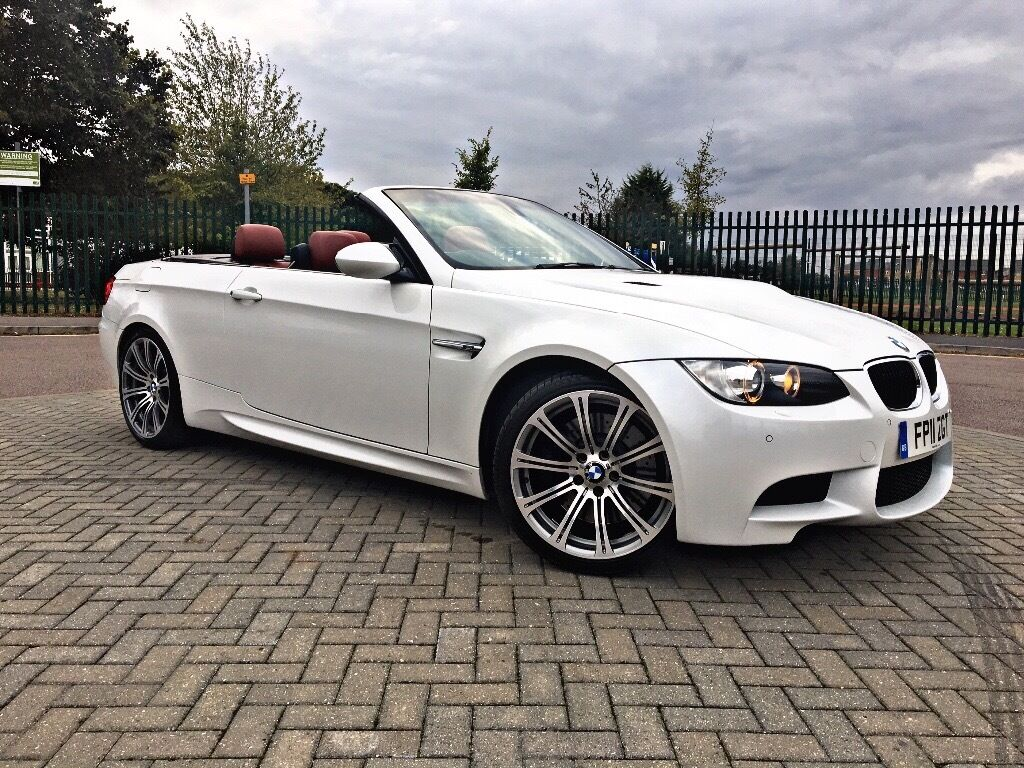 2011 fully loaded bmw m3 4 0 dct e93 convertible mineral white red leather fbmwsh 2 keys for White bmw with red interior for sale