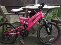Girls muddyfox sports bike