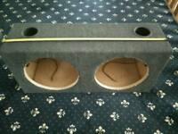 Sub box, twin 12 inch box