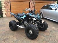 Road legal Yamaha Raptor 250R 59 plate mint quad