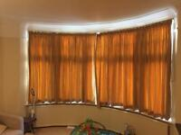 Free bay window curtains - huge
