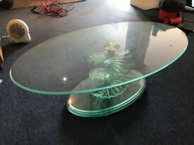 Glass swirl table for sale