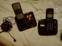 Philips telephone and Binatone telephone with answering machine