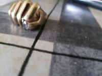 9ct gold heavy fist ring