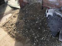 Rubble, pebbles and builders sand