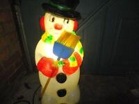 CHRISTMAS ILLUMINATED SNOWMAN - OUTDOOR OR INDOOR USE