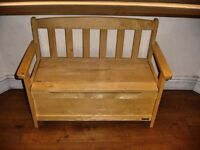 John Lewis wooden bench with toy storage