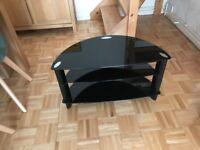 Sony black glass tv console unit
